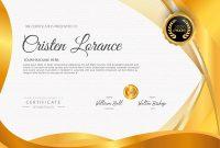 Golden Certificate Design Templatesamiul Azim On Dribbble with Award Certificate Design Template
