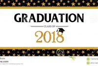 Graduation Class Of 2018 Greeting Banner Template. Vector with Graduation Banner Template