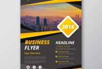 Grey And Yellow Business Flyer Template | Free Vector with regard to New Business Flyer Template Free