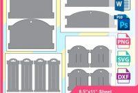 Hairband Card Template Hair Bow Display Card Template   Etsy regarding Headband Card Template