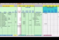 Hairdresser Bookkeeping Spreadsheet Bookkeeping Small pertaining to Excel Templates For Small Business Accounting