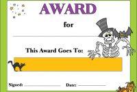 Halloween Award 1 Awards | Halloween Printables Free Pertaining To Halloween Certificate Template