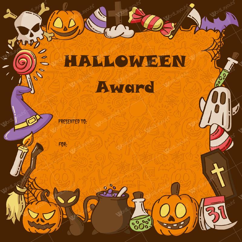Halloween Award Certificates – 5+ Printables For Microsoft Word For Halloween Certificate Template