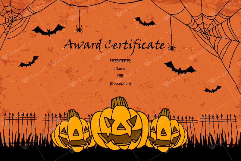 Halloween Award Certificates – 5+ Printables For Microsoft Word Inside Halloween Certificate Template