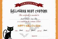 Halloween Best Costume Certificate Templates | Word & Excel In Halloween Certificate Template
