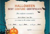 Halloween Best Costume Certificate Templates | Word & Excel regarding Halloween Costume Certificate Template