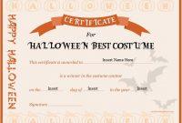 Halloween Best Costume Certificate Templates | Word & Excel throughout Halloween Costume Certificate Template