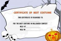 Halloween Costume Certificates With Best Designs And Inside Halloween Certificate Template