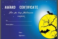 Halloween Costume Certificates With Best Designs And pertaining to Halloween Costume Certificate Template