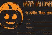 Halloween Gift Certificate Template 1 – Blank Certificate Pertaining To Halloween Certificate Template