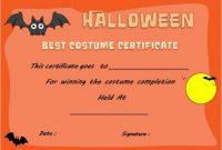 Halloween Innovative Costume Award Certificate Template within Halloween Costume Certificate Template