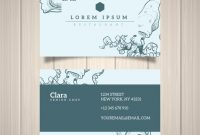 Hand Drawn Restaurant Business Card Template | Free Vector regarding Restaurant Business Cards Templates Free