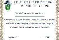 Hard Drive Certificate Of Destruction Template Archives in Destruction Certificate Template