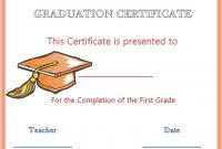 Hats Off Graduation Award Certificate | Graduation with Free Printable Graduation Certificate Templates