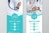 Healthcare And Medical Roll Up Design, Standee And Banner inside Medical Banner Template