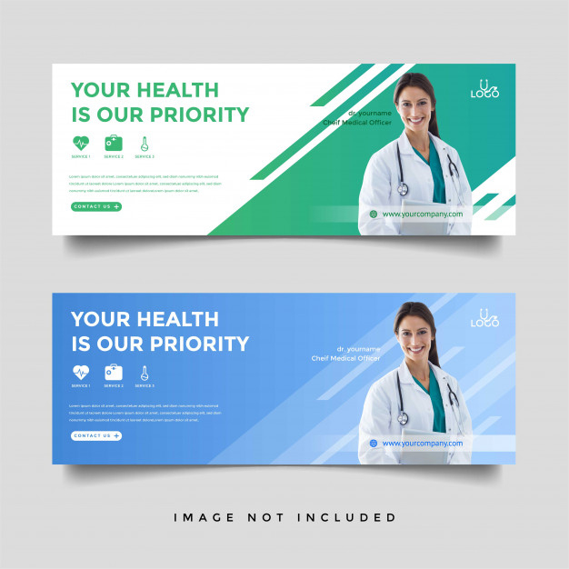 Healthcare & Medical Banner Promotion Template | Premium Vector within Medical Banner Template