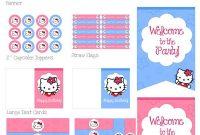 Hello Kitty Birthday Party Printables | Hello Kitty Birthday in Hello Kitty Birthday Banner Template Free