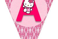 Hello Kitty Free Printable Bunting. | Hello Kitty Birthday in Hello Kitty Birthday Banner Template Free