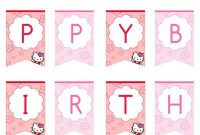 Hello Kitty Happy Birthday Banner - Printable Treats | Hello throughout Hello Kitty Birthday Banner Template Free