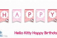 Hello Kitty Happy Birthday Banner — Printable Treats pertaining to Hello Kitty Birthday Banner Template Free