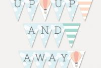Hot Air Balloon Baby Shower Banner Template – Baby Shower Banner Custom,  Editable Banner For Party, Baby Shower Supplies, Hadley Designs with regard to Baby Shower Banner Template