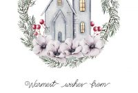 House And Pine Wreath – Moving Announcement Template (Free with regard to Free Moving House Cards Templates