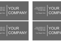How Google Docs Can Help You Come Across As A Professional with regard to Google Docs Business Card Template