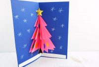How To Make A 3D Christmas Card intended for 3D Christmas Tree Card Template