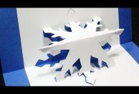 How To Make A Snowflake Pop Up Card | Free Template – (Kirigami 3D)  Christmas Greetings! with regard to Templates For Pop Up Cards Free