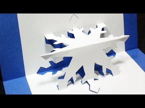 How To Make A Snowflake Pop Up Card | Free Template - (Kirigami 3D)  Christmas Greetings! with regard to Templates For Pop Up Cards Free