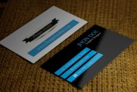 How To Make Your Own Business Card Using Photoshop with regard to Create Business Card Template Photoshop