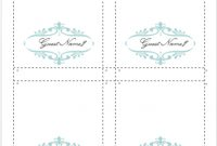 How To Make Your Own Place Cards For Free With Word And in Tent Name Card Template Word