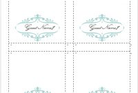 How To Make Your Own Place Cards For Free With Word And inside Table Name Cards Template Free