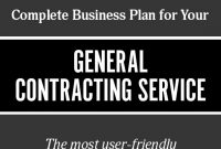 How To Write A Business Plan For A General Contractor Business intended for General Contractor Business Plan Template