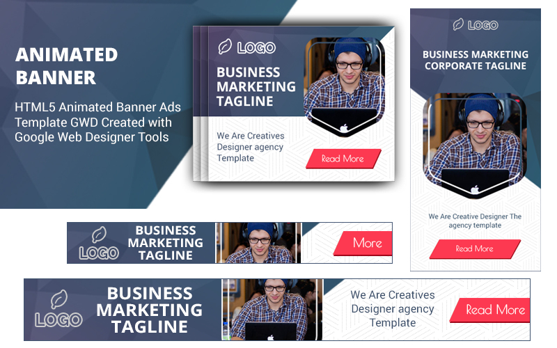 Html5 Ad Templates V1 Animated Banner #100549 In Animated Banner Template