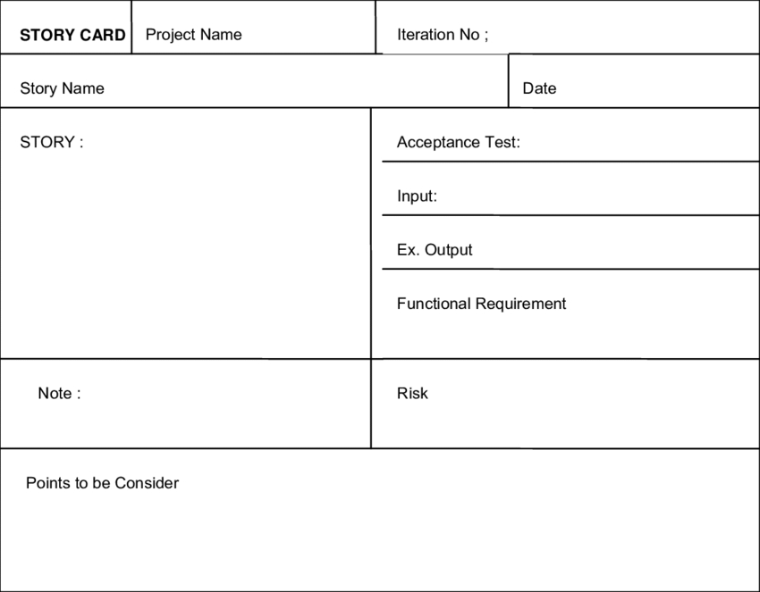 Improved Story Card Template With Acceptance Tests throughout Acceptance Card Template