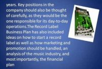 Independent Record Label Business Plan Free with regard to Independent Record Label Business Plan Template
