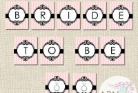 Instant Download – Bride To Be Banner – Printable Banner with regard to Bride To Be Banner Template