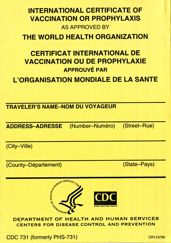 International Certificate Of Vaccination Or Prophylaxis As Approvedthe  World Health Organization (Package Of 100) with regard to Certificate Of Vaccination Template