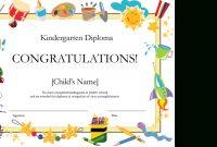 Kindergarten Diploma Certificate pertaining to Free Printable Graduation Certificate Templates