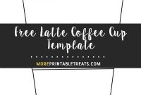Latte Coffee Cup Template – Large   Coffee Gifts, Coffee for Thanks A Latte Card Template