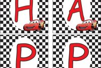 Lightning Mcqueen Banner | Cars Birthday Parties, Cars pertaining to Cars Birthday Banner Template