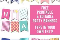 Lots Of Free Printable Party Banners From @chicfetti You Can pertaining to Christening Banner Template Free