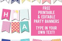 Lots Of Free Printable Party Banners From @chicfetti You Can pertaining to Diy Party Banner Template