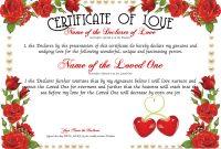 Love Certificate Designer | Free Certificate Templates throughout Love Certificate Templates