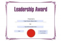 Manager Of The Month Certificate Template (1) - Templates inside Manager Of The Month Certificate Template