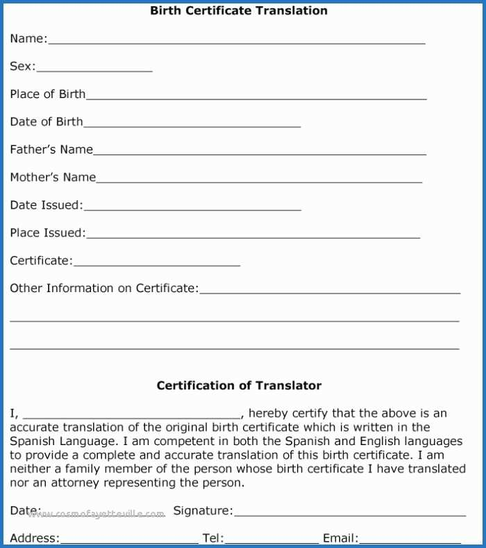 Marriage Certificate Translation From Spanish To English regarding Birth Certificate Translation Template English To Spanish