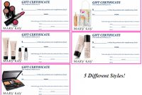 Mary Kay Flyers | Mary Kay Assorted Gift Certificates | Mary pertaining to Mary Kay Gift Certificate Template