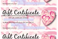 Mary Kay® Valentine's Gift Certificates | Mary Kay Gifts pertaining to Mary Kay Gift Certificate Template
