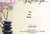 Massage Certificate | Massage Gift Certificate, Gift inside Spa Day Gift Certificate Template